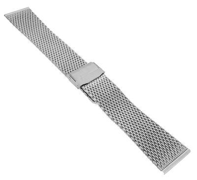 Minott Uhrenarmband 22mm > Edelstahl  Milanaise silberfarben > 35013 – Bild 2
