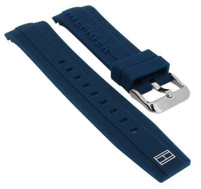 Tommy Hilfiger → Uhrenarmband Silikon 679302062 blau → 1791349 – Bild 1