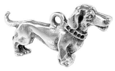 SET Minott Halskette | Hänger aus Messing | Hund mit Lederschnur 35101 – Bild 2