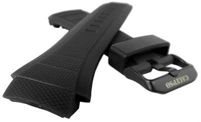 Calypso Uhrenarmband Spezial Anstoß Kunststoff schwarz < K5676 K5676/1 – Bild 2