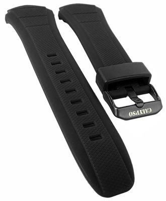 Calypso Uhrenarmband Spezial Anstoß Kunststoff schwarz < K5676 K5676/1 – Bild 1
