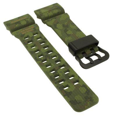 Casio G-Schock Uhrenarmband Kunststoff grün Camouflage ► GG-1000BTN-1A – Bild 1