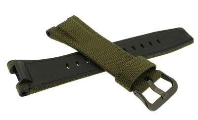 Casio G-SHOCK G-STEEL Uhrarmband Textil / Leder grün GST-W130BC-1A3ER – Bild 2