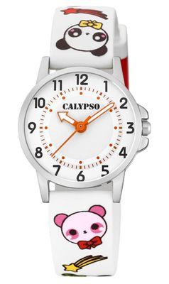 Calypso | Kinderuhr Quarzuhr PU weiß Band Edelstahl analog | K5775/1