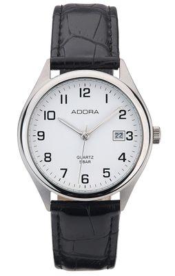 Adora   Herren Armbanduhr Analog mit Datumsanzeige Lederband 35270