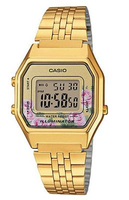 Casio Collection Retro Klassiker Uhr Digital Edelstahl LA680WEGA-4CEF – Bild 1