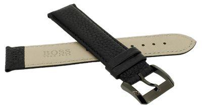 Hugo Boss Chronograph | Uhrenarmband 22mm Leder genarbt | 119623 – Bild 2