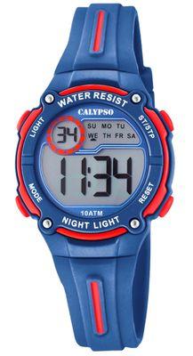 Calypso Digital Crush Kinderuhr Kunststoff PU blau Armbanduhr > K6068