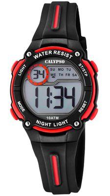 Calypso Digital Crush Kinderuhr Armbanduhr schwarz Kunststoff PU K6068