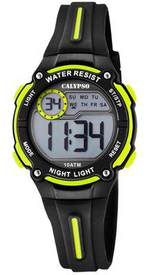 Calypso Digital Crush Kinderuhr schwarz Armbanduhr Kunststoff PU K6068