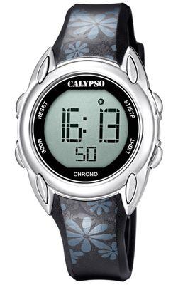 Calypso Digital Crush Kinderuhr schwarz Armbanduhr Kunststoff PU K5735