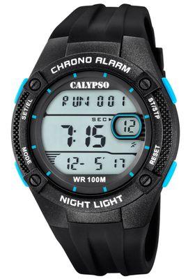 Calypso Digital Armbanduhr Kunststoff schwarz PU-Band Quarzwerk K5765