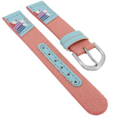 Minott Kinder Uhrenarmband 14mm Buntstifte- Motiv rosa Textil ► 35478 – Bild 1