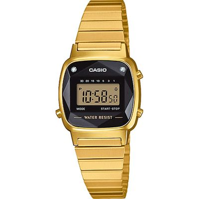Casio Collection Retro Klassiker Uhr Digital Edelstahl LA670WEGD-1EF – Bild 1