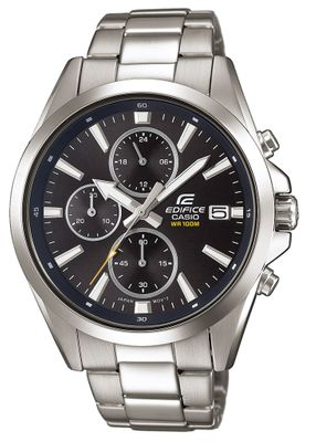 Casio Edifice Analog Herrenuhr Edelstahl silbern EFV-560D-1AVUEF