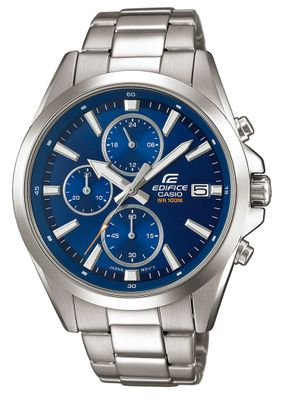 Casio Edifice Analog Herrenuhr Edelstahl silbern EFV-560D-2AVUEF