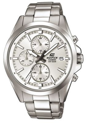 Casio Edifice Analog Herrenuhr Edelstahl silbern EFV-560D-7AVUEF