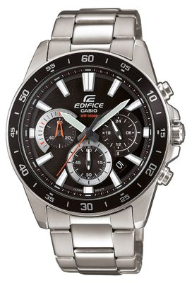 Casio Edifice Analog Herrenuhr Edelstahl silbern EFV-570D-1AVUEF