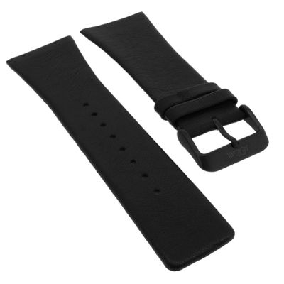 s.Oliver ► Uhrenarmband 24mm Leder schwarz Ersatzband ► SO-3365-LD – Bild 1