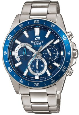 Casio Edifice Analog Herrenuhr Edelstahl silbern EFV-570D-2AVUEF