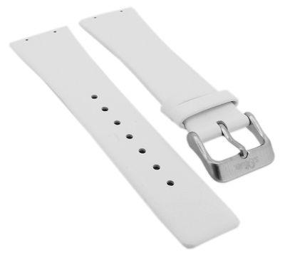 s.Oliver   Uhrenarmband 23mm Leder weiß Schließe silbern   SO-1286-LD – Bild 1
