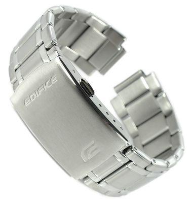 Casio Edifice Uhrenarmband 22mm Ersatzband Edelstahl silbern ⇒ EQS-600 – Bild 1