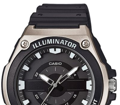 Casio Collection Analog  Herrenuhr Resin mit LED Light MWC-100H-1AVEF – Bild 2