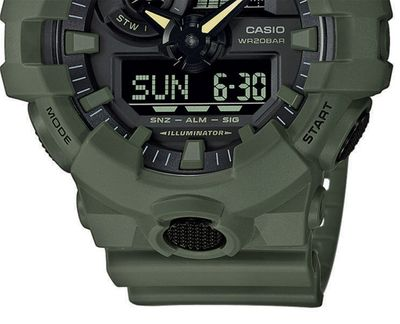 Casio G-Shock Herrenuhr | Digitaluhr mit Super-Illuminator GA-700UC-3AER – Bild 3