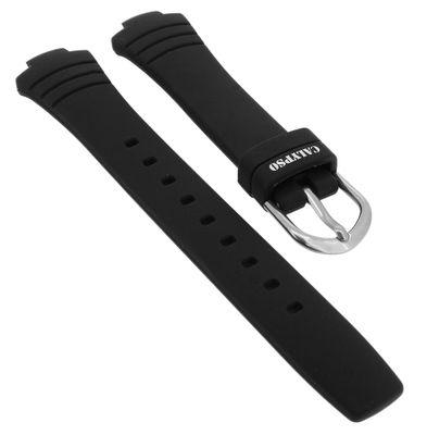 Calypso Uhrenarmband schwarz Kautschuk Spezial Anstoß K5758 • K5758/6 – Bild 1