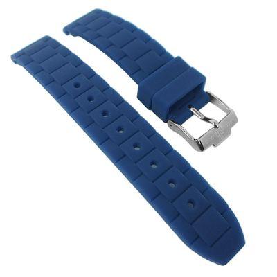 Jacques Lemans Uhrenarmband Silikon blau 1-1571 1-1745 1-1623 1-1587
