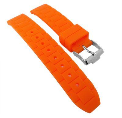 Jacques Lemans Uhrenarmband Silikon orange 1-1571 1-1745 1-1623 1-1587