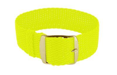 Minott Uhrenarmband neongelb Perlon geflochten Dornschließe | 20mm – Bild 2