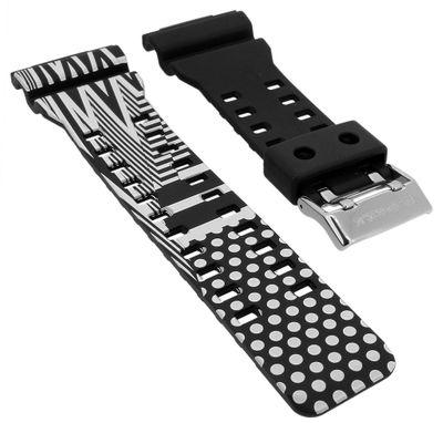 Casio Ersatzband | Uhrarmband weiß-schwarz G-Shock GD-120LM-1AER – Bild 1