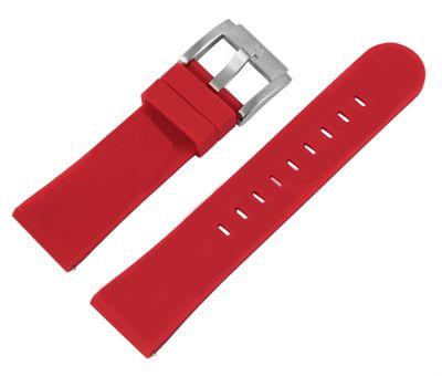 TW STEEL MC Edition | Uhrenarmband 22mm | Silikon rot | 8400014 – Bild 1