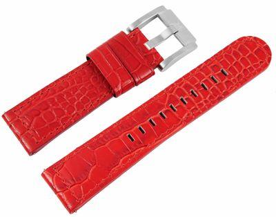 TW STEEL MC Edition | Uhrenarmband 22mm | Leder rot | 8400036 – Bild 1