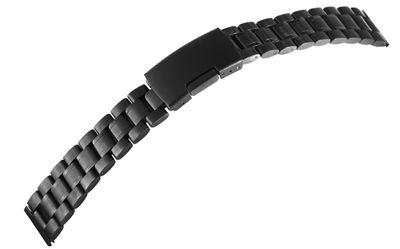 Minott Edelstahl massiv | Uhrenarmband 18mm | PVD schwarz | 8100071 – Bild 1