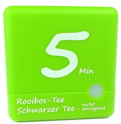 TFA Cube Tee Timer | Kurzeitmesser 3-4-5-6 Minuten | Würfel grün – Bild 3