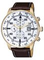Citizen Chrono | Herren Eco Drive Chronograph | Lederband | CA0693-12A