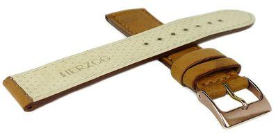 Herzog Piemont | Uhrenarmband 18mm braun Leder glatt | Ton in Ton Naht – Bild 7