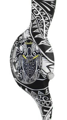 DOODLE WATCH  ░  Armbanduhr Ø 39mm | Silikon > MAORI TURTLES > DOAR002 – Bild 2