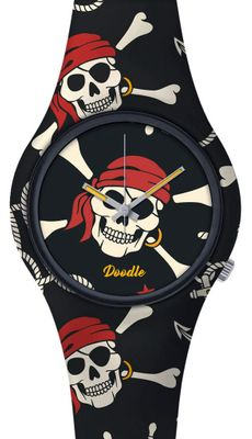 DOODLE WATCH  ╬  Armbanduhr Ø 39mm | Silikon > RED PIRATES > DOSK004 – Bild 1