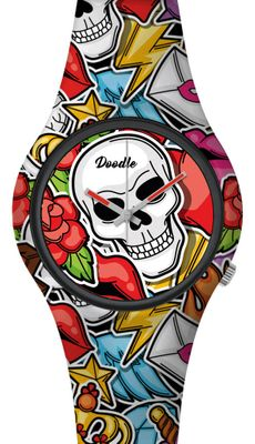 DOODLE WATCH  ╬ Armbanduhr Ø 39mm | Silikon > MEXICAN TATTOO > DOSK003 – Bild 1