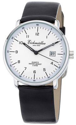 Eichmüller   Herren Armbanduhr Ø 38mm   Lederband schwarz   Datum
