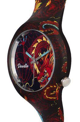 DOODLE WATCH ♠ Armbanduhr Ø 39mm | Silikon | RED DRAGON > DODR002 – Bild 2