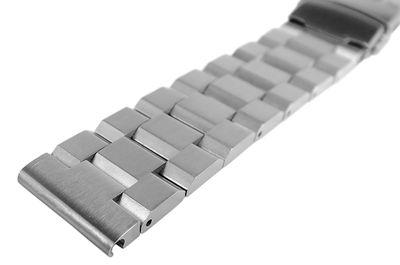 Minott Uhrenarmband | massiv Edelstahl | gebürstet | Faltschließe  – Bild 2