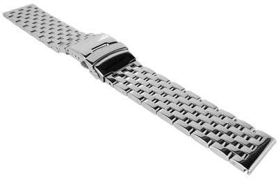 Minott Uhrenarmband 22mm | Edelstahlband massiv | Faltschließe  – Bild 1