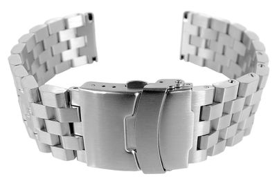 Minott Uhrenarmband | massives Edelstahl | matt | Faltverschluss8 – Bild 1