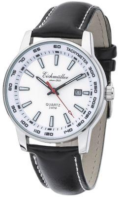 Eichmüller   Herren Armbanduhr Ø 40mm Lederband schwarz Datumsanzeige