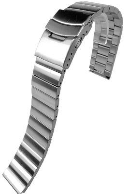 Minott Uhrenarmband | massiv Edelstahl | satiniert | Faltschließe  – Bild 3
