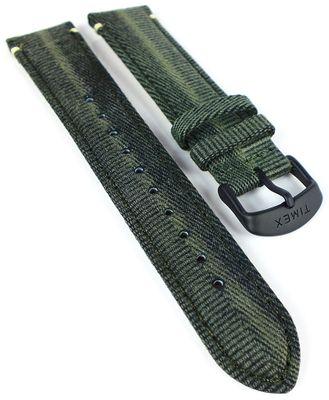 Timex Waterbury ⇒ Uhrenarmband 20mm ⇒ Materialmix grün ⇒ TW2R43200 – Bild 1